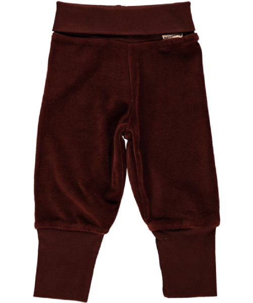 Maxomorra Velour Rib Pants Brown (74)